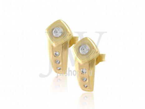 Köves, sárga arany, stekkeres fülbevaló - 30