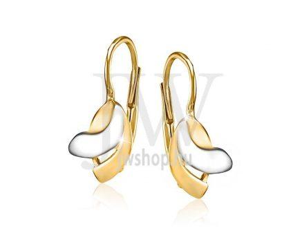 Sárga-fehér arany fülbevaló - 172