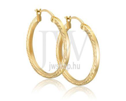 Arany karika fülbevaló - 264