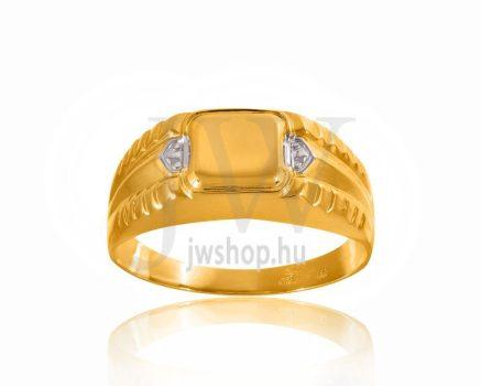 Arany férfi pecsétgyűrű - 3