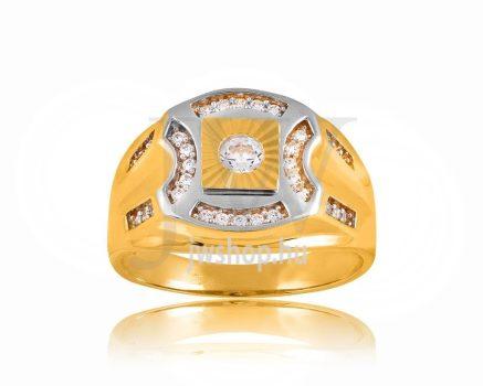 Arany férfi pecsétgyűrű - 8