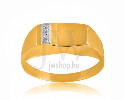 Arany férfi pecsétgyűrű - 11