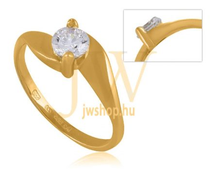 Sárga arany, köves gyűrű - 49
