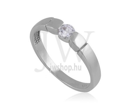 Fehér arany, köves gyűrű - 53