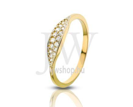 Sárga arany, köves gyűrű - 74