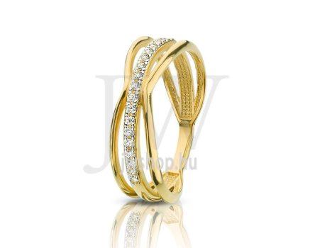 Sárga arany, köves gyűrű - 76