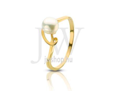 Sárga arany, gyöngyös gyűrű - 84