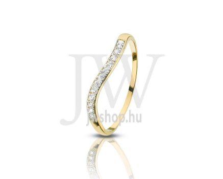 Sárga arany, köves gyűrű - 87