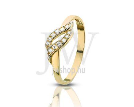 Sárga arany, köves gyűrű - 96