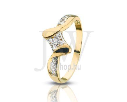 Sárga-fehér arany, köves gyűrű - 103