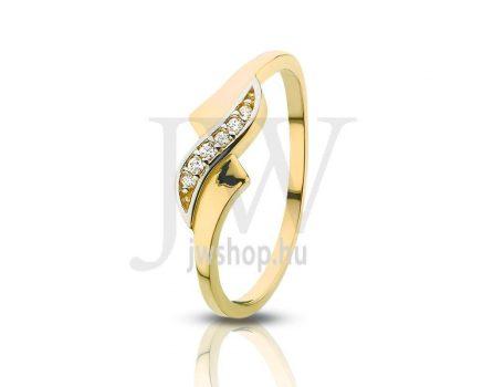 Sárga-fehér arany, köves gyűrű - 109