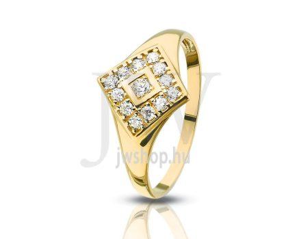 Sárga arany, köves gyűrű - 110