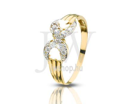 Sárga arany, köves gyűrű - 111