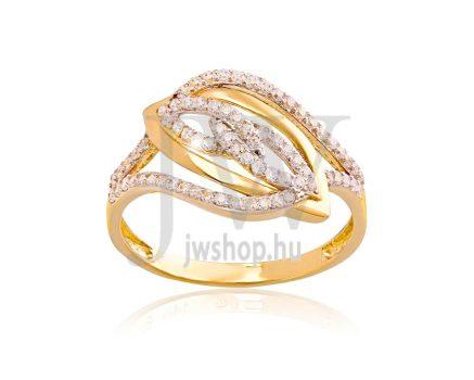 Sárga arany, köves gyűrű - 146