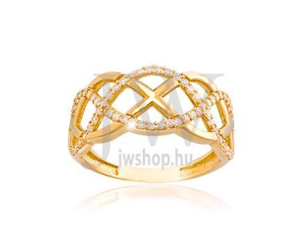 Sárga arany, köves gyűrű - 148
