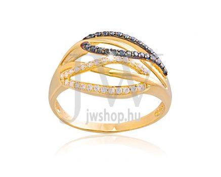 Sárga arany, köves gyűrű - 153