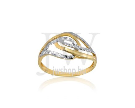 Sárga-fehér arany, vésett gyűrű - 173