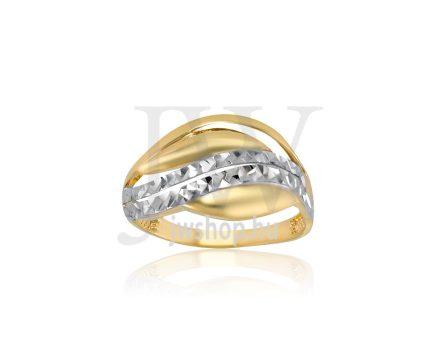 Sárga-fehér arany, vésett gyűrű - 176