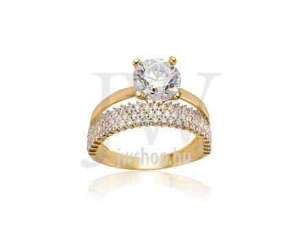 Sárga arany, köves gyűrű - 177
