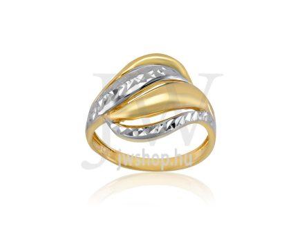 Sárga-fehér arany, vésett gyűrű - 178
