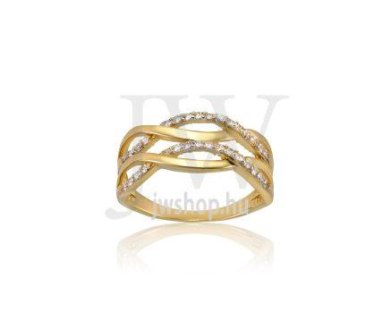 Sárga arany, köves gyűrű - 182