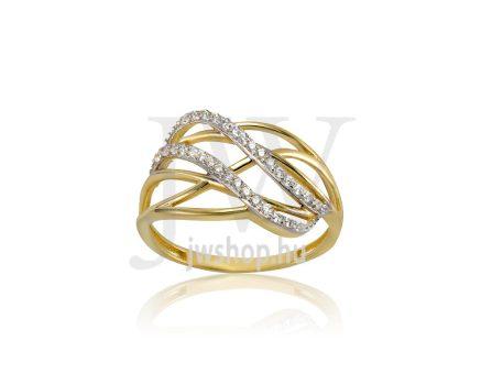 Sárga arany, köves gyűrű - 184