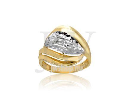 Sárga-fehér arany, vésett gyűrű - 188