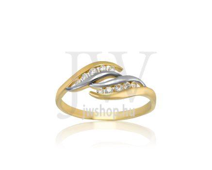 Sárga-fehér arany, köves, gyűrű - 189