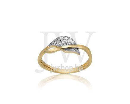 Sárga-fehér arany, köves gyűrű - 193