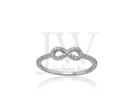 Fehér arany, köves gyűrű - 202