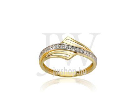 Sárga arany, köves gyűrű - 209
