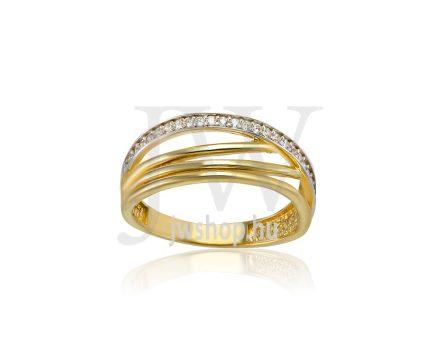 Sárga arany, köves gyűrű - 210
