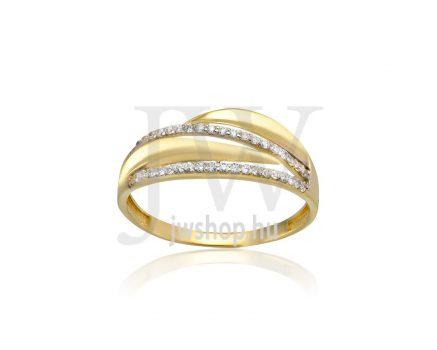 Sárga arany, köves gyűrű - 211