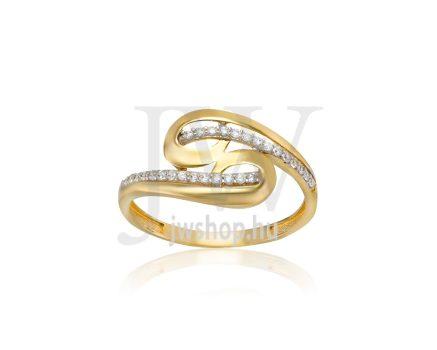 Sárga arany, köves gyűrű - 212