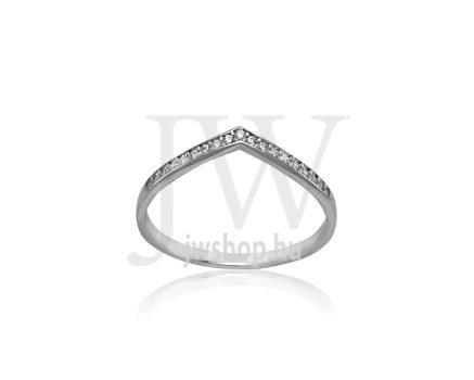 Fehér arany, köves gyűrű - 214