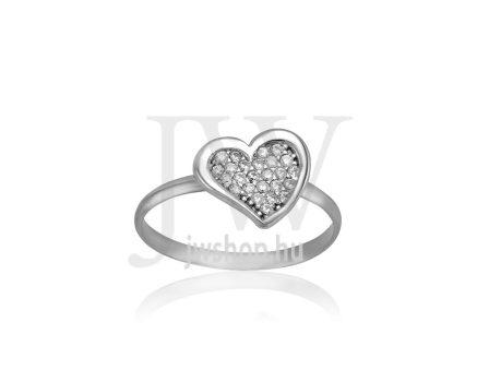 Fehér arany, köves gyűrű - 215