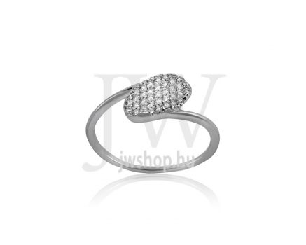Fehér arany, köves gyűrű - 216