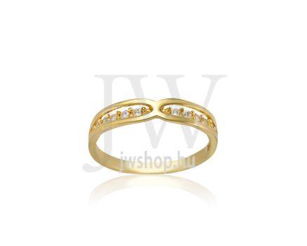 Sárga arany, köves gyűrű - 229