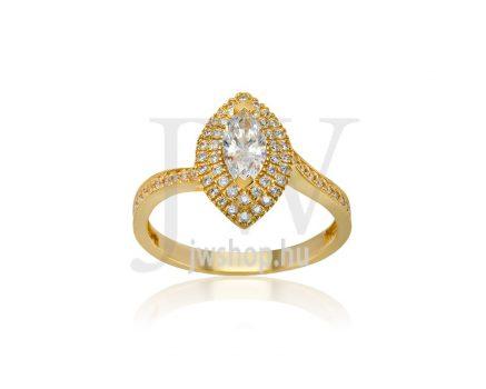 Sárga arany, köves gyűrű - 232