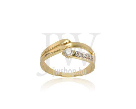 Sárga-fehér arany, köves gyűrű - 237