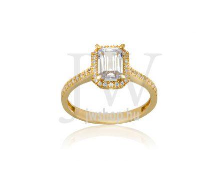 Sárga arany, köves gyűrű - 245