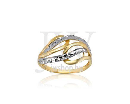 Sárga-fehér arany, vésett gyűrű - 246