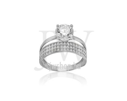 Fehér arany, köves gyűrű - 247