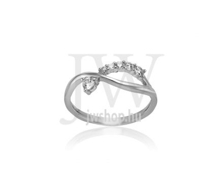 Fehér arany, köves gyűrű - 249