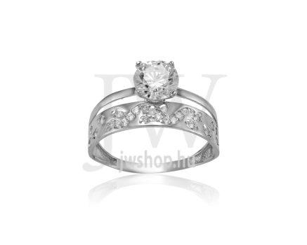 Fehér arany, köves gyűrű - 250