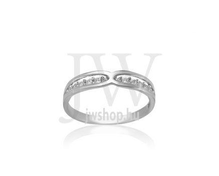 Fehér arany, köves gyűrű - 252