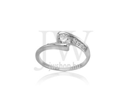 Fehér arany, köves gyűrű - 256