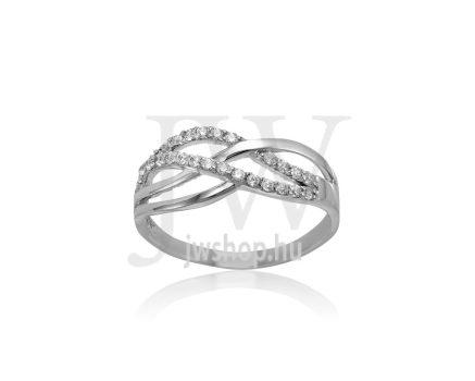 Fehér arany, köves gyűrű - 258