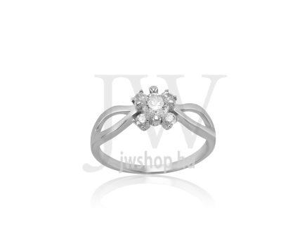 Fehér arany, köves gyűrű - 267