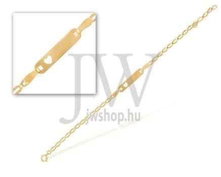 Sárga arany  szíves karkötő - 1